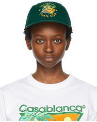 CASABLANCA グリーン Tennis Club キャップ Green