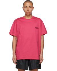 メンズ Wooyoungmi ピンク ロゴ T シャツ Pink