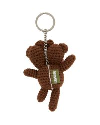 Marc Jacobs Heaven By コレクション ブラウン Double Headed Teddy キーチェーン Brown