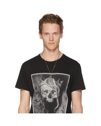 Alexander McQueen - Metallic Silver Raven And Skull Necklace for Men - Lyst