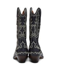 Isabel Marant ブラック Western Stitch Duerto ブーツ Black