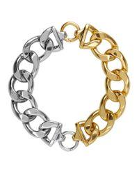 Collier dore et argente Mix Bold Chain we11done en coloris Metallic