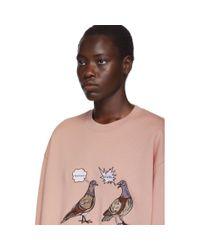 Acne ピンク Forba Pigeon スウェットシャツ Pink