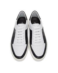 Amiri Black And White Dagger Monogram Sneakers for men