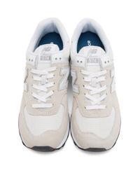 New Balance グレー And ホワイト 574 Core スニーカー White