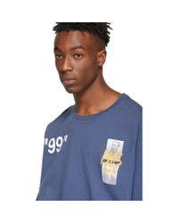 メンズ Off-White c/o Virgil Abloh ブルー サマー T シャツ Blue