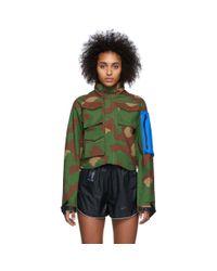 Nike Green Off-white Edition Camo Nrg 27 Aop Jacket