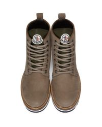 Moncler Gray Grey Suede New Vancouver Boots for men