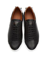 メンズ Givenchy ブラック リバース ロゴ アーバン ストリート スニーカー Black