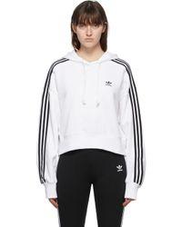 Adidas Originals ホワイト Adicolor クロップド フーディ White