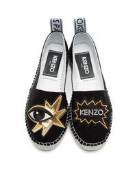 KENZO Black K-patch Espadrilles