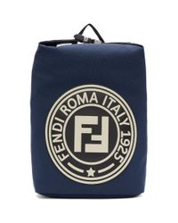 Fendi Blue Navy Roma Italy 1925 Backpack for men