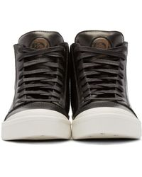 DIESEL Black S-nentish High-top Sneakers for men