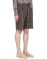 Dolce & Gabbana - Black Pinstriped Shorts for Men - Lyst