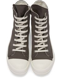 DRKSHDW by Rick Owens - Gray Grey Canvas High-top Sneakers for Men - Lyst