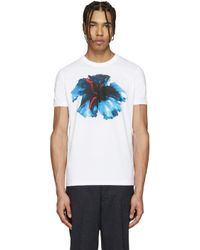 DSquared² - White Floral T-shirt for Men - Lyst