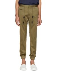 Marc Jacobs - Green Cotton Drawstring Trousers for Men - Lyst