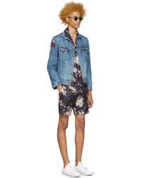 Marc Jacobs - Black Navy Silk Japanese Shorts for Men - Lyst