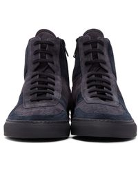 Robert Geller - Blue Navy Suede Common Projects Edition Bball Sneakers for Men - Lyst
