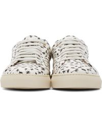 Paul Smith Black White Ant Print Low-top Sneakers for men