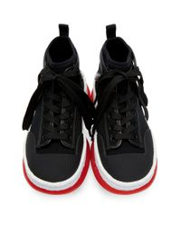 Alexander Wang ブラック A1 ハイトップ スニーカー Black