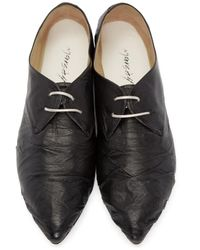 Marsèll - Black Leather Oxfords - Lyst
