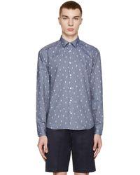 KENZO Blue Chambray Cactus Shirt for men