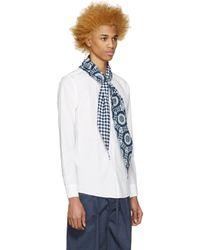 Sasquatchfabrix - Blue White Scarf Shirt for Men - Lyst