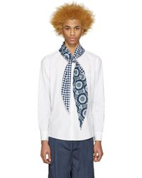 Sasquatchfabrix - Blue White Scarf Shirt for Men - Lyst