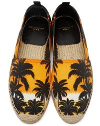 Saint Laurent - Green Orange Sunset Espadrilles - Lyst