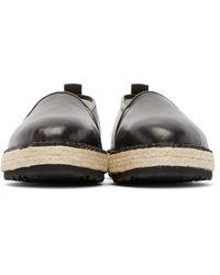 MSGM - Black Leather Espadrilles for Men - Lyst