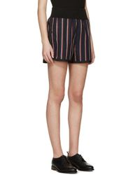 Sacai Blue Stripe Shorts