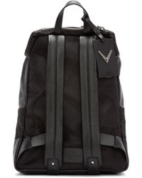 Valentino - Black Nylon & Leather Camo Backpack for Men - Lyst