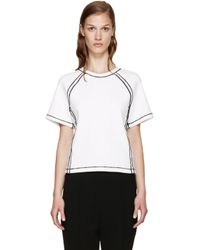 J.W.Anderson - Black White Contrast Seam T-shirt - Lyst