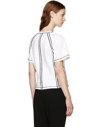 J.W.Anderson - Black White Contrast Seam T-shirt - Lyst