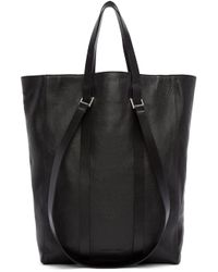 CoSTUME NATIONAL - Black Straps Leather Tote - Lyst