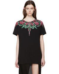 Marcelo Burlon - Black Graphic T-shirt - Lyst