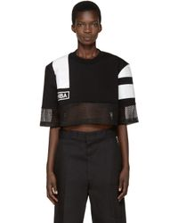 Hood By Air - Black & White Nothingness T-shirt - Lyst