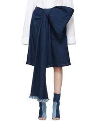 Ashish - Blue Indigo Denim Bow Shorts - Lyst