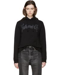 Vetements - Black Logo Stretch-Cotton Hoodie - Lyst