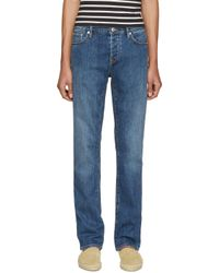 Burberry Brit - Blue Straight Jeans for Men - Lyst