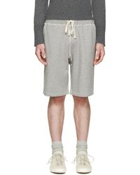 Nigel Cabourn Gray Grey Gym Lounge Shorts for men