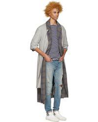 Fear Of God - Black Grey Wool Overcoat for Men - Lyst