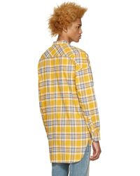 Fear Of God - Yellow Flannel Check Shirt for Men - Lyst
