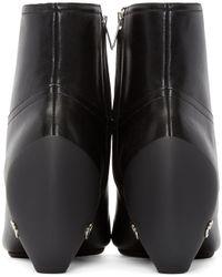 Courreges Black Leather Gogo Boots