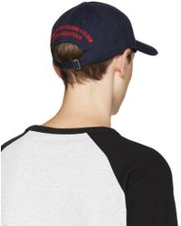 DSquared² Blue Navy City Of Mountain Cap for men