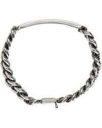 A.P.C. - Metallic Silver Thomas Bracelet for Men - Lyst