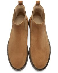 A.P.C. - Brown Ethan Suede Boots for Men - Lyst