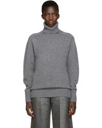 Chloé | Gray Oversized Cashmere-blend Sweater | Lyst