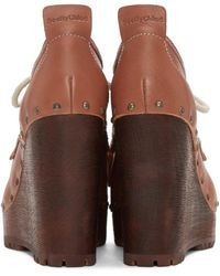 See By Chloé Brown Clive Clog Boots